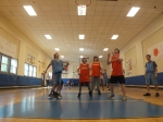 The Gymnasium can be used for many different sports, including basketball.
