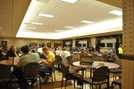Memorial Hall features a full service cafeteria, able to seat close to 200. It includes a full service beverage station.