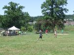 The lower fields are set up for softball and baseball, making for popular summer activities.